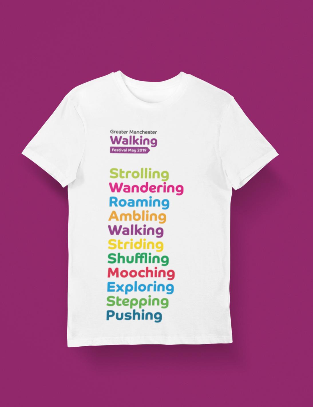 Walking Festival tshirt design
