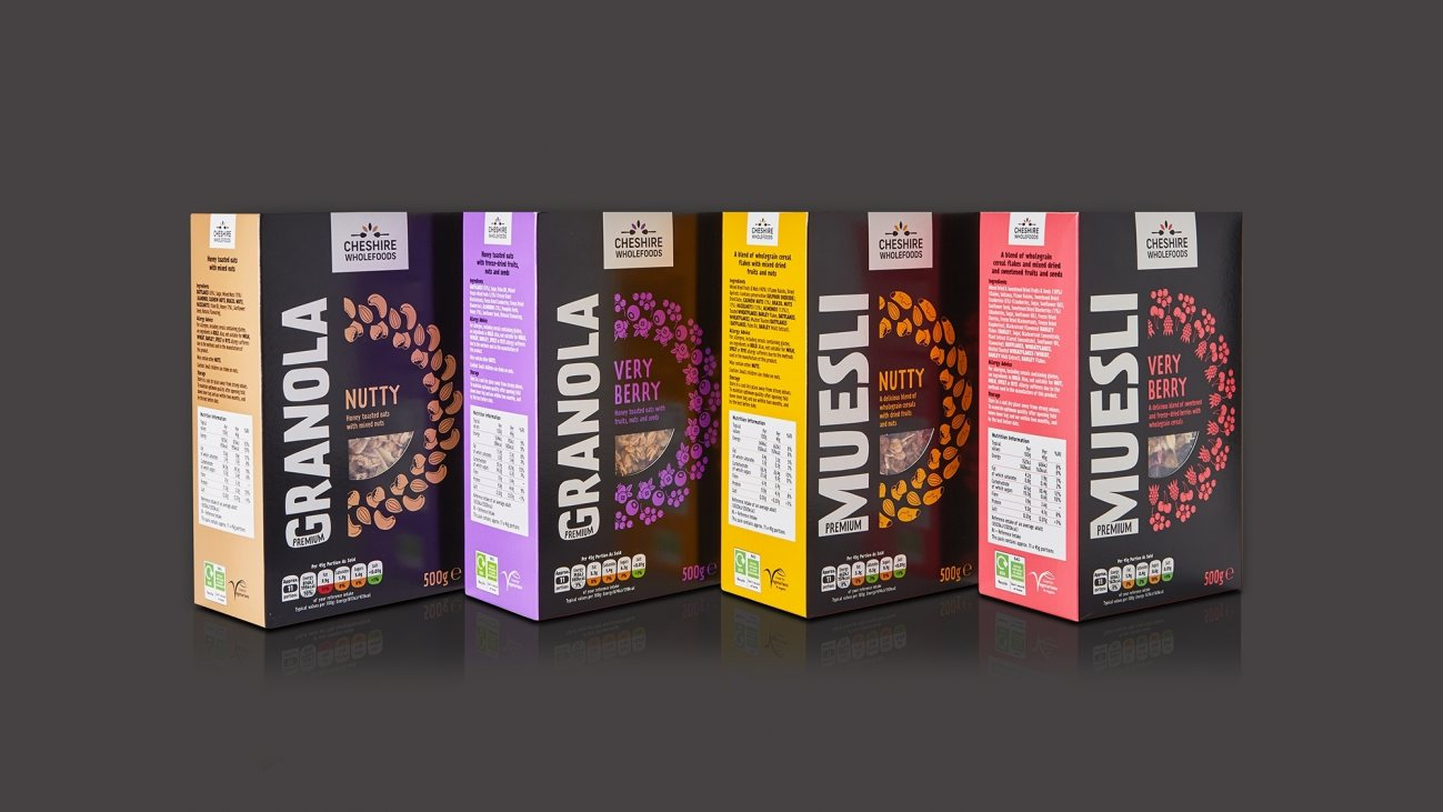 Healthy and wholesome cereal branding and packaging