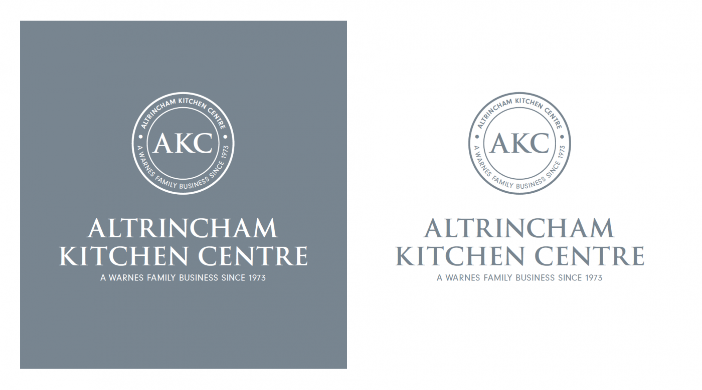 Altrincham Kitchen Centre branding by Sunny Thinking