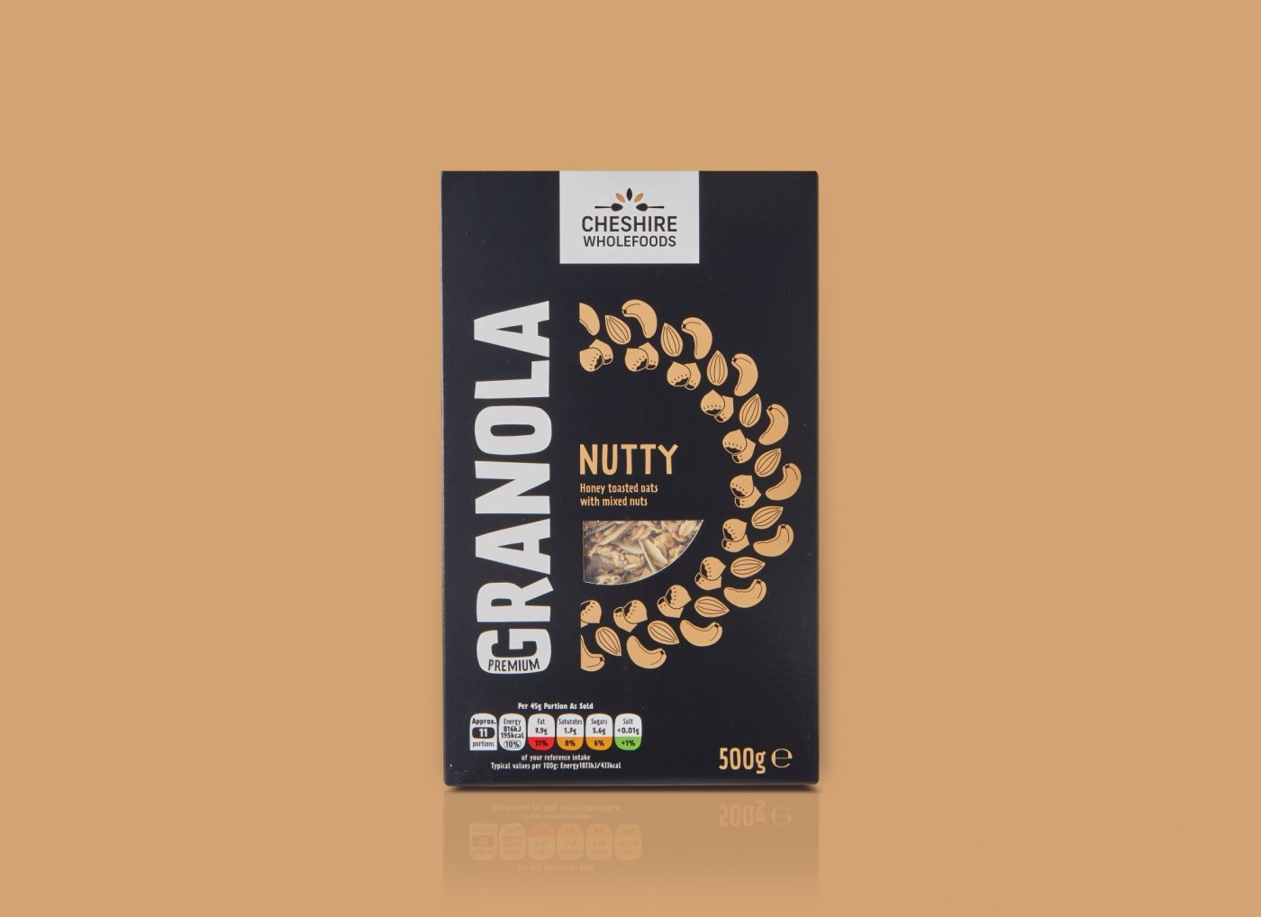 Cheshire Wholefoods Granola Packaging Design