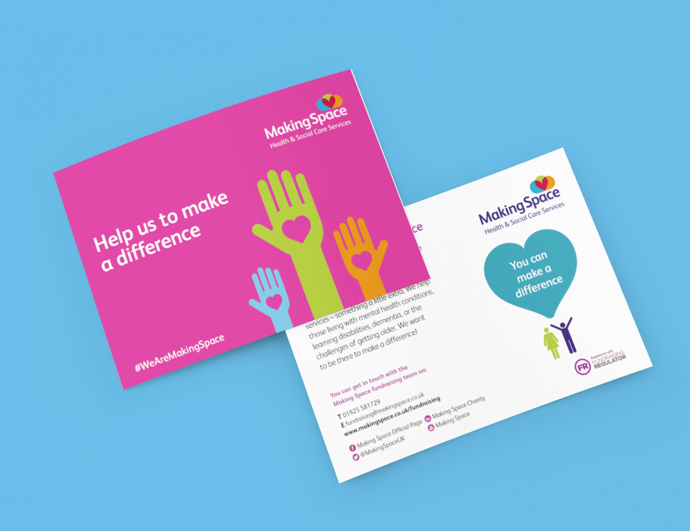 Fundraising collateral design