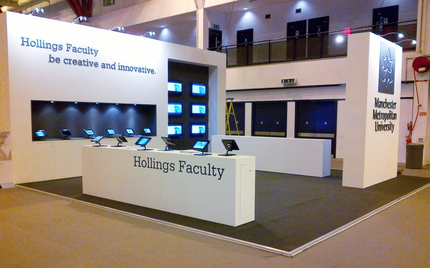 Sunny Thinking exhibition stand design and build for MMU at GFW
