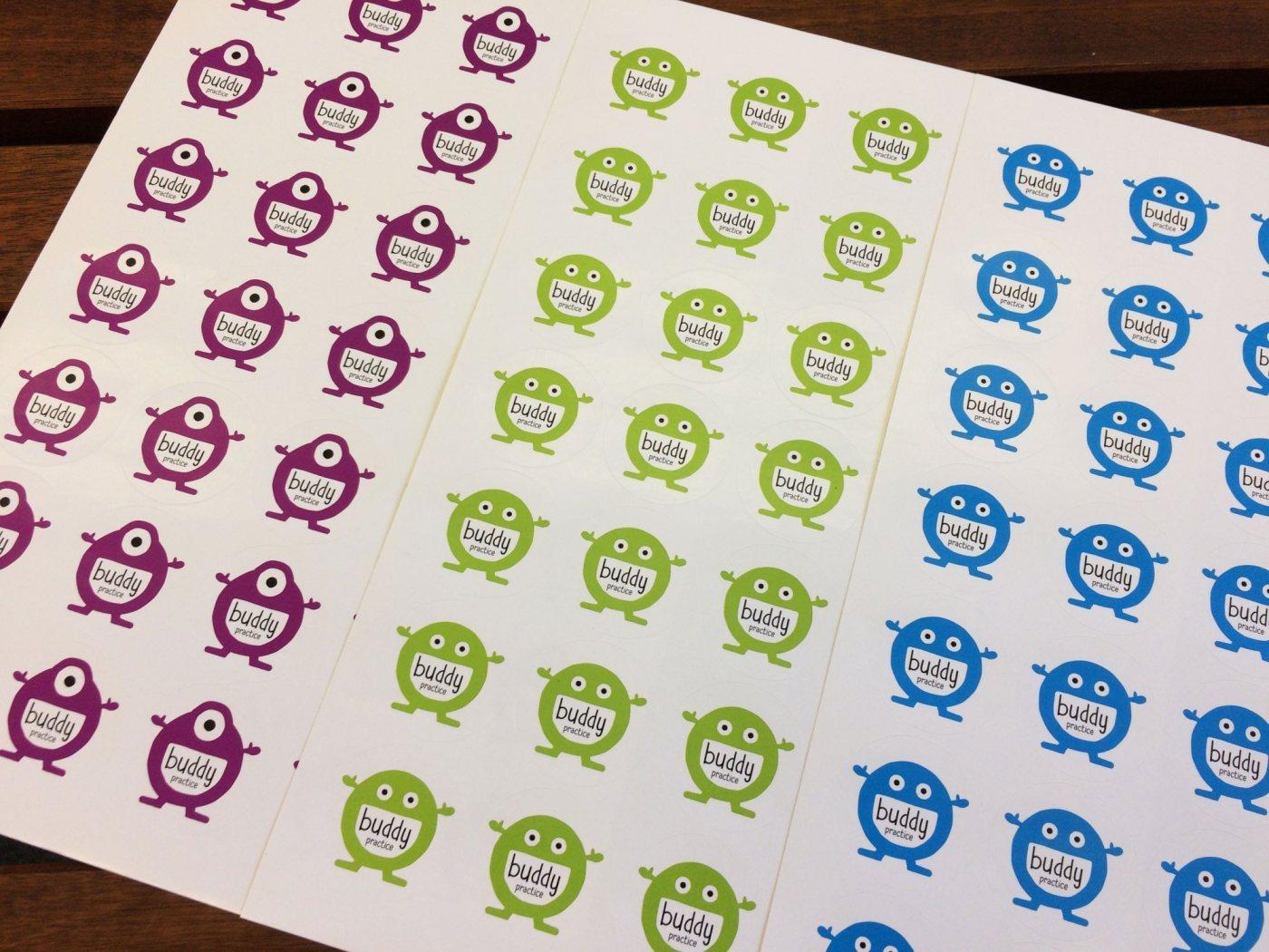 Buddypractice stickers