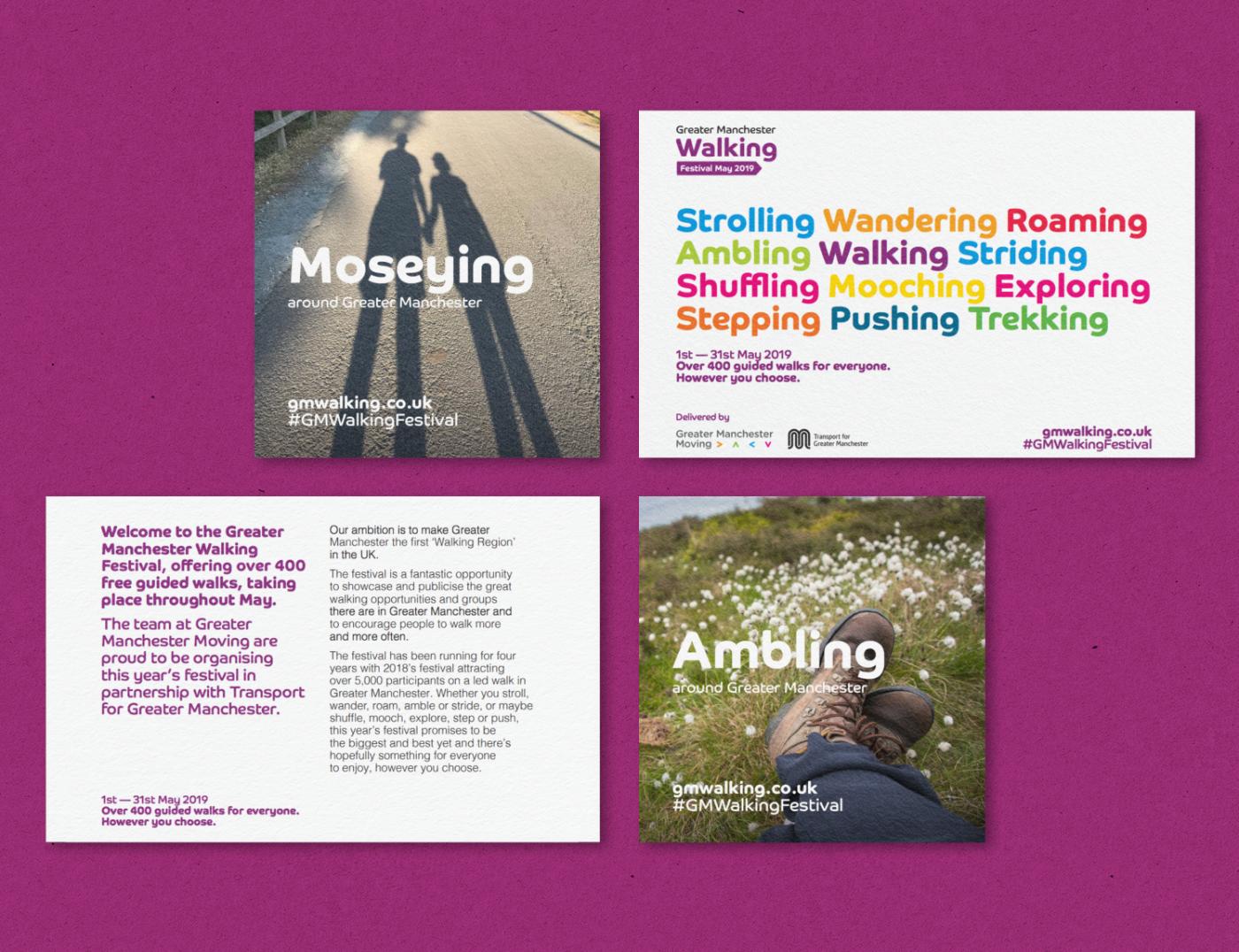 Promotional materials design for Walking Festival