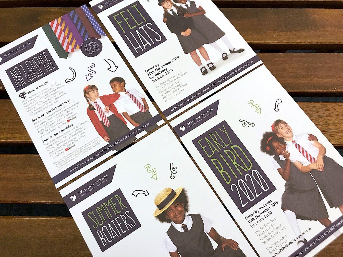 Williamturner schoolwear show leaflet design