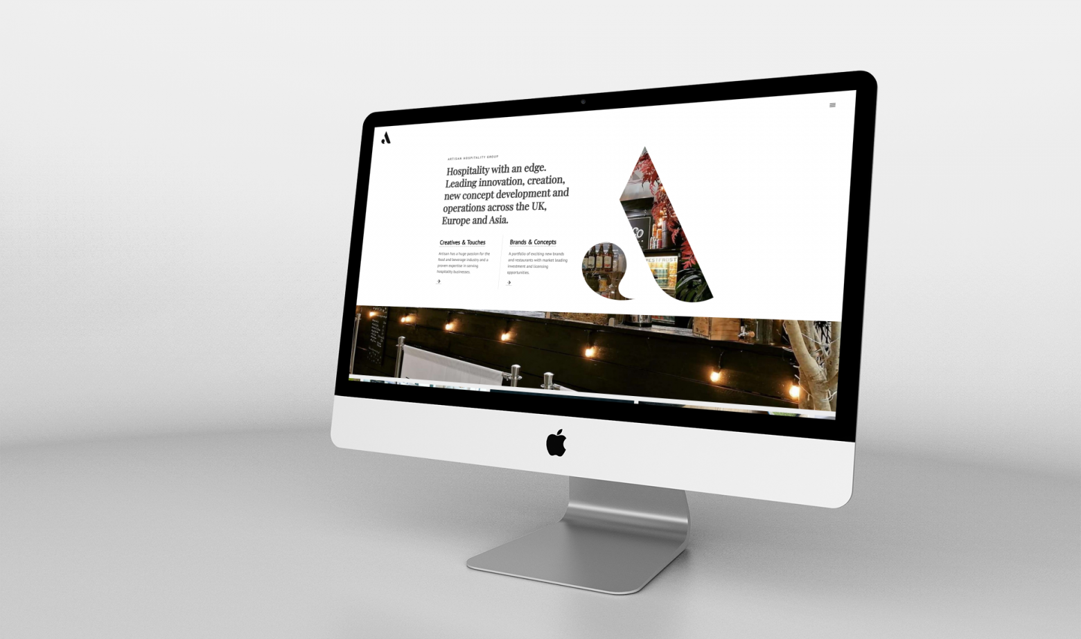Website design for Artisan Hospitality Group