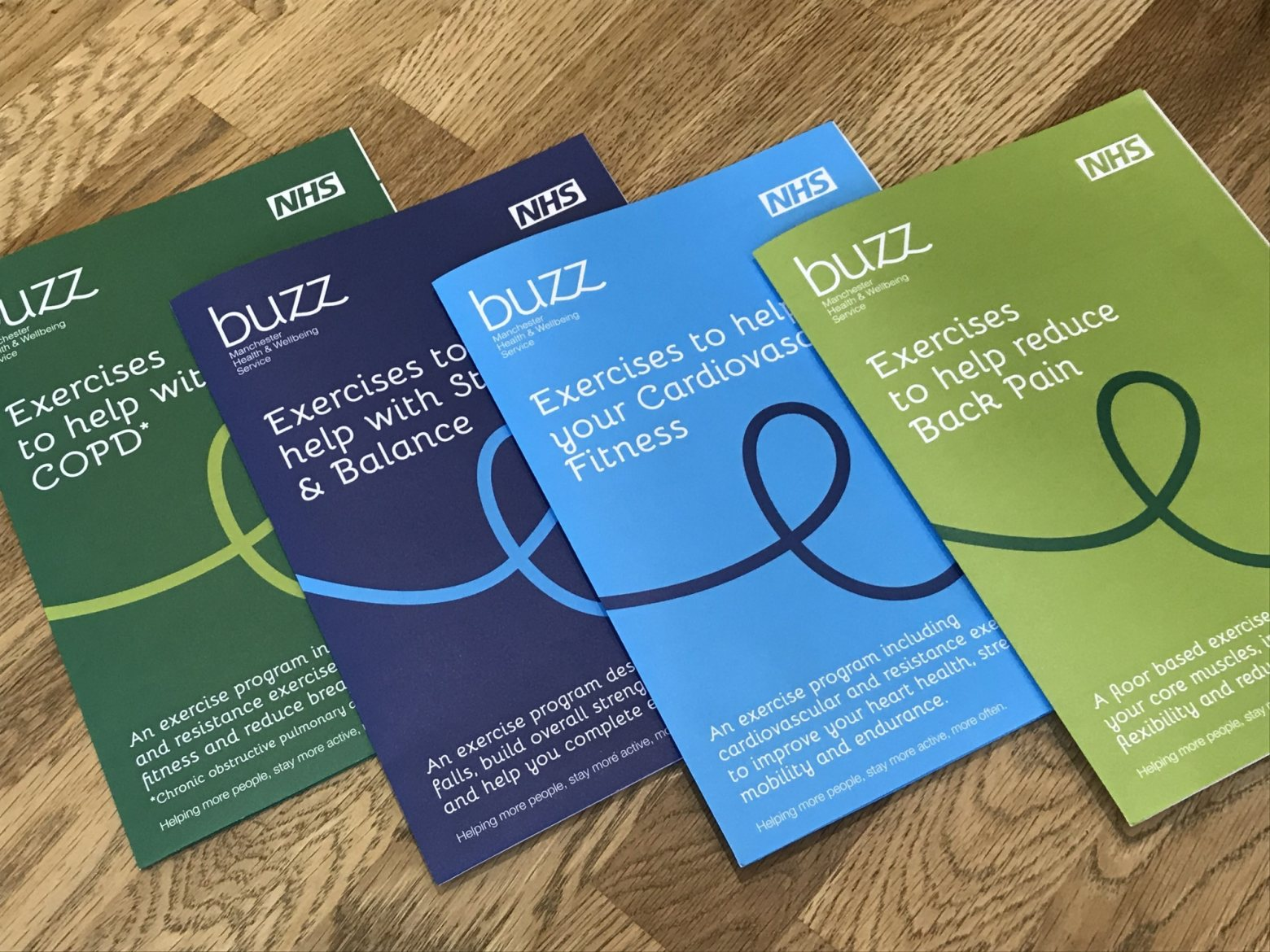 Exercise leaflet design for the NHS