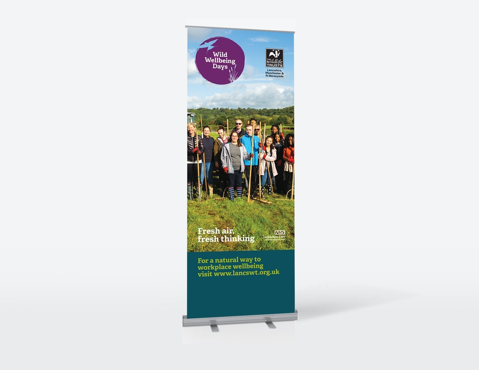 Sunny Thinking LWT Wellbeing roller banners Visual 1