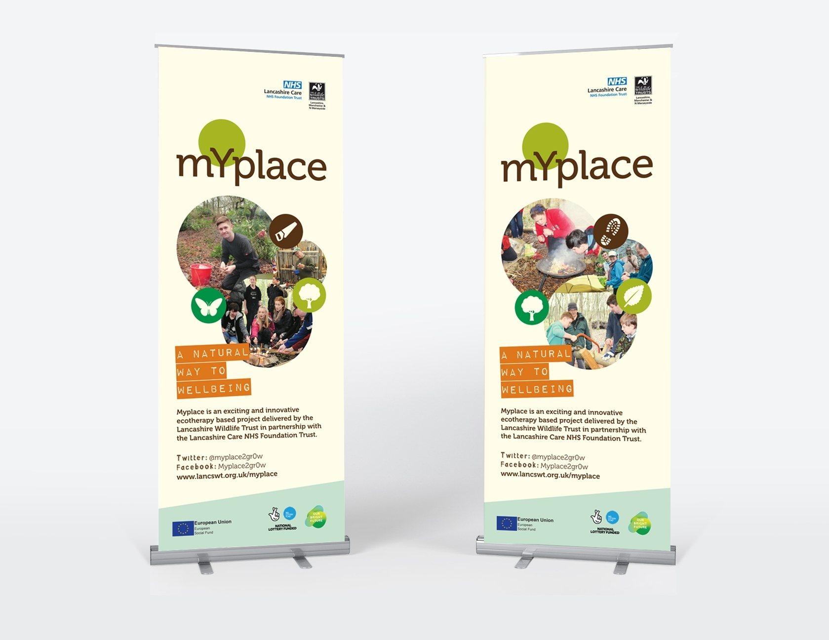 Wildlife Trust banner stand design