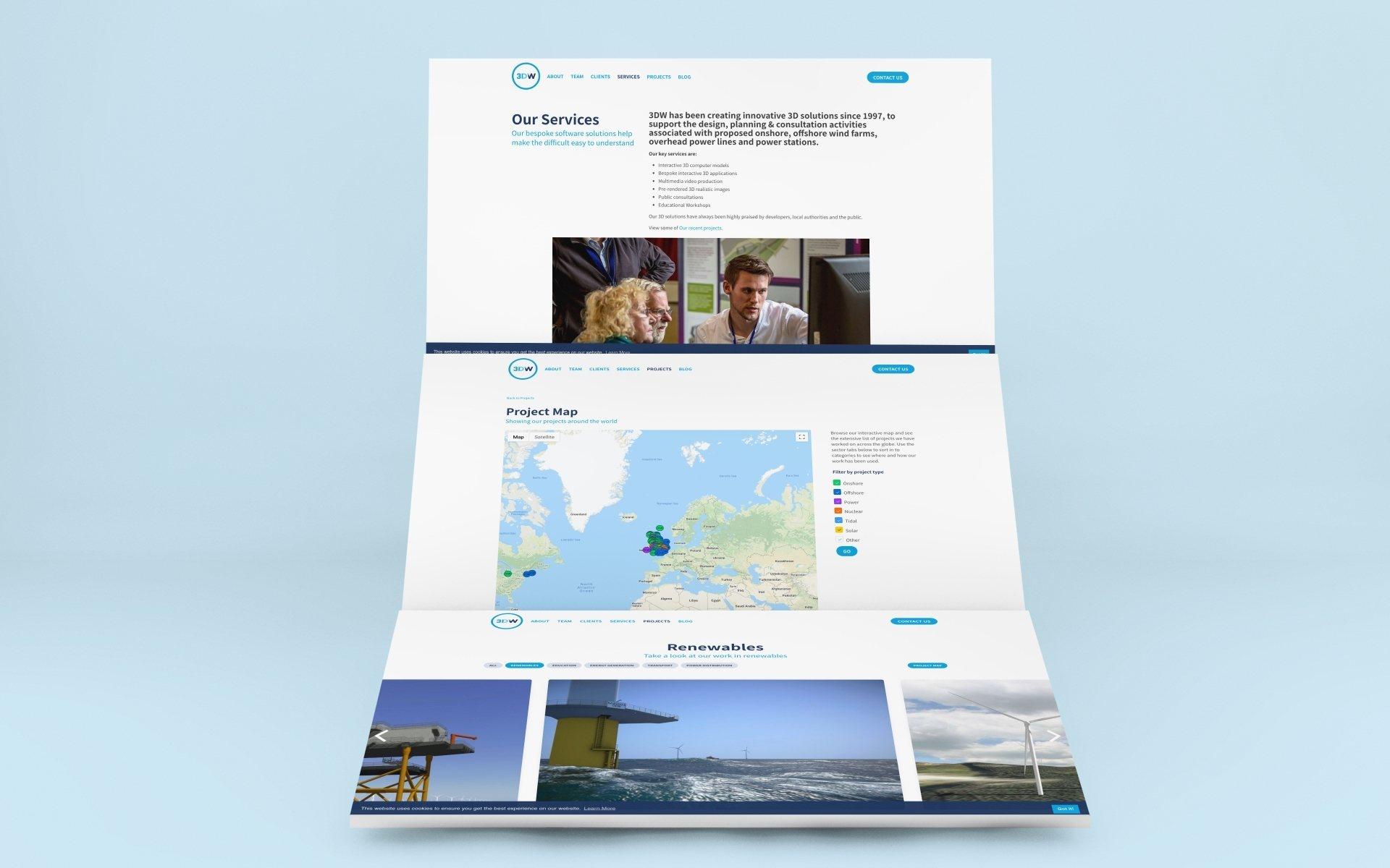 Website design for renewable energy