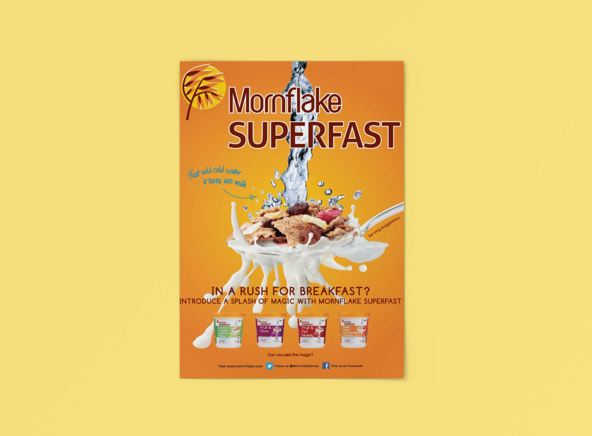 Cereal advert design for Mornflake