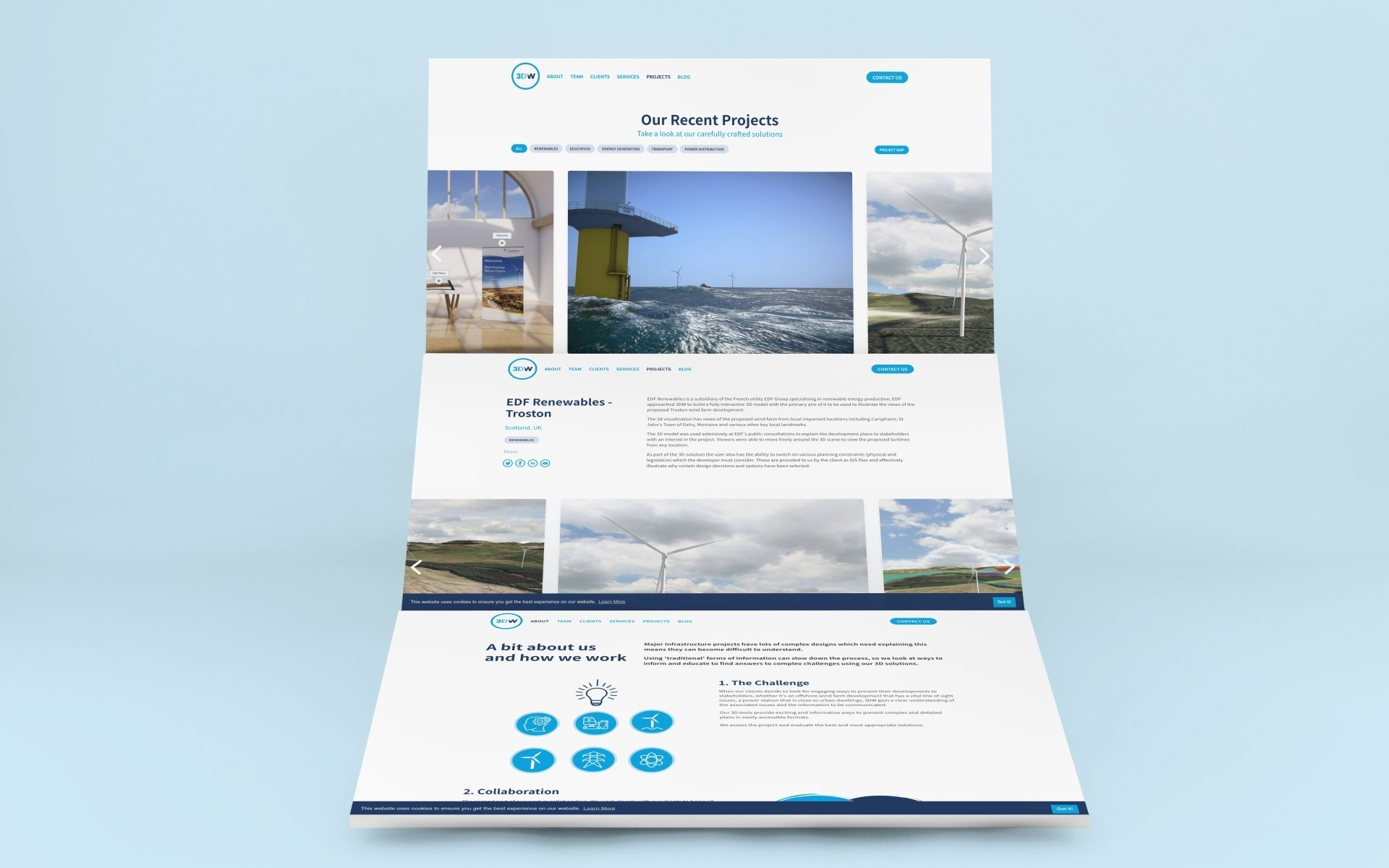 Renewable energy website design
