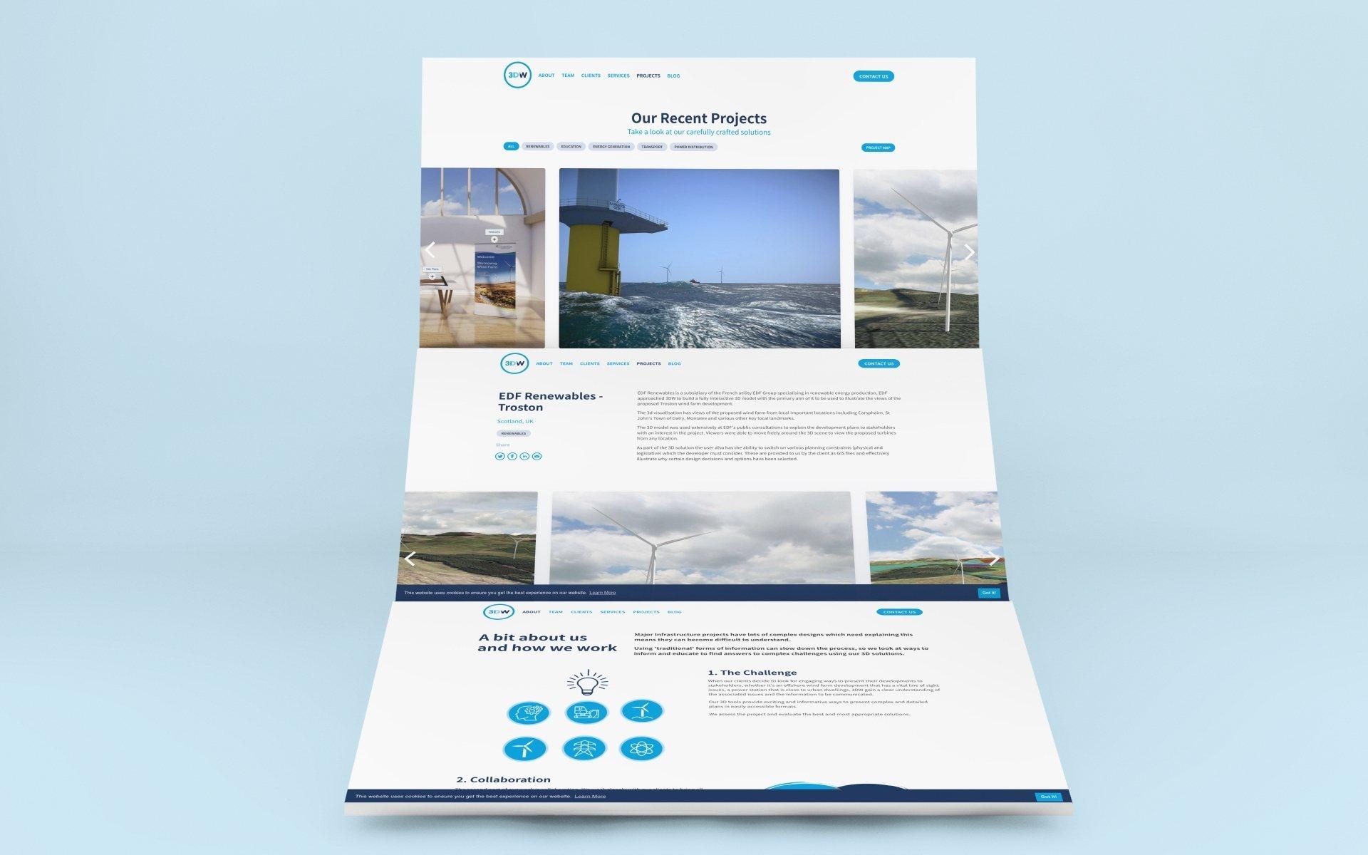 Renewable energy website design