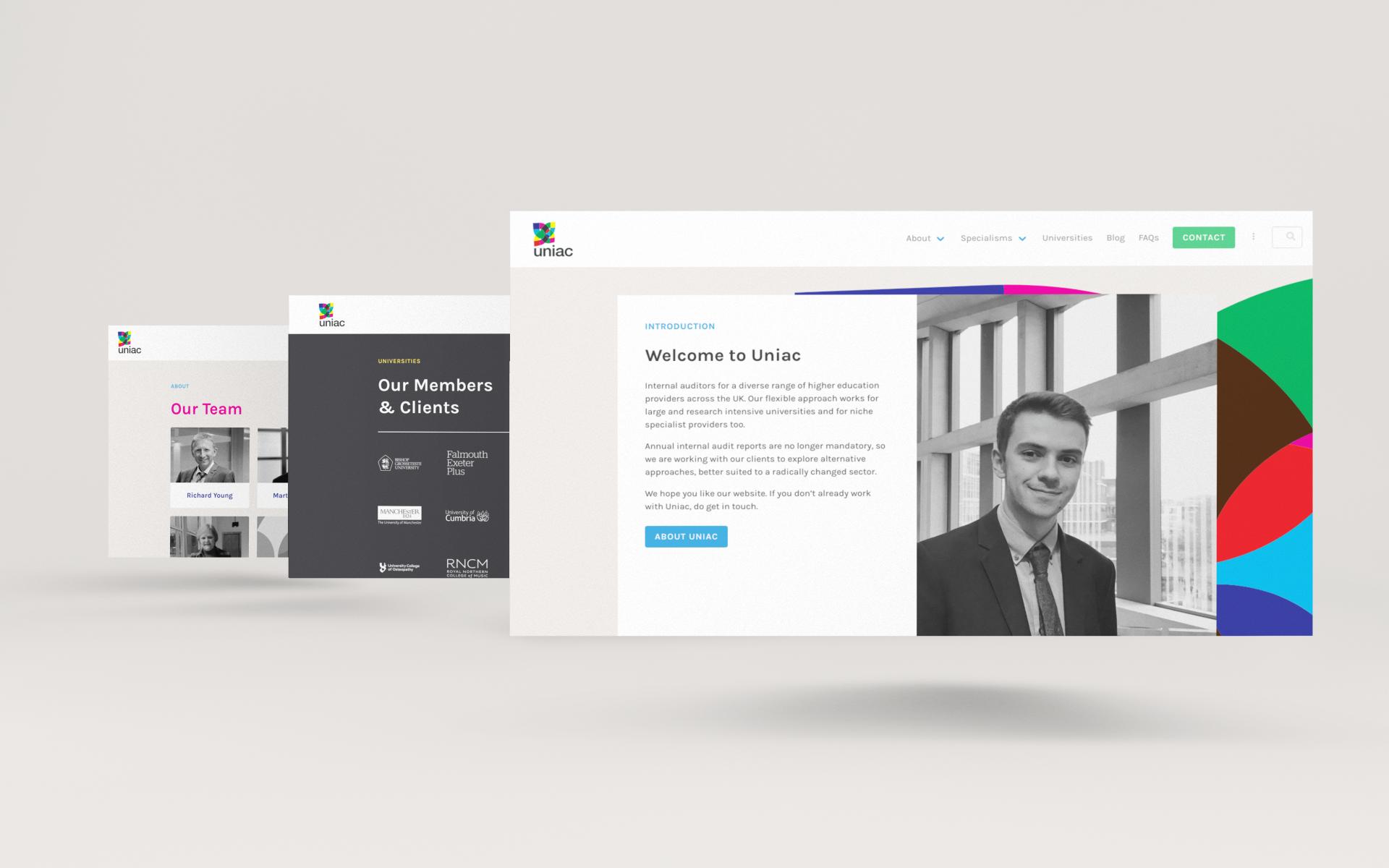 Uniac website design by Sunny Thinking