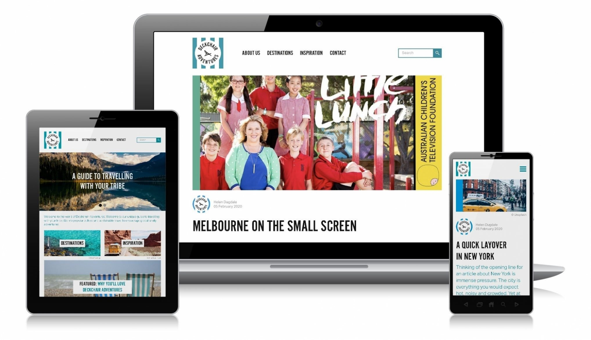 Deckchair Adventures website design in Craft CMS