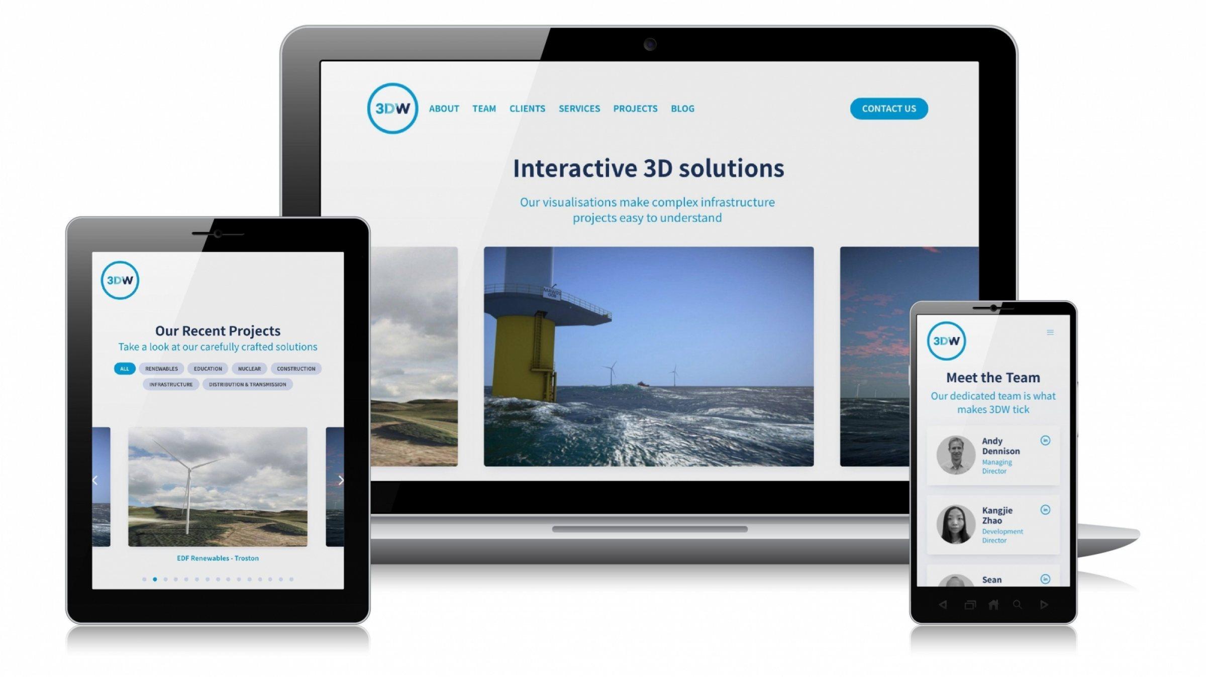 Website design for 3DW