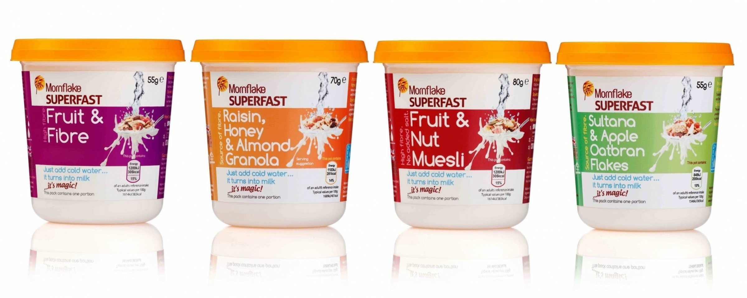 Mornflake Superfast Pots packaging design by Sunny Thinking