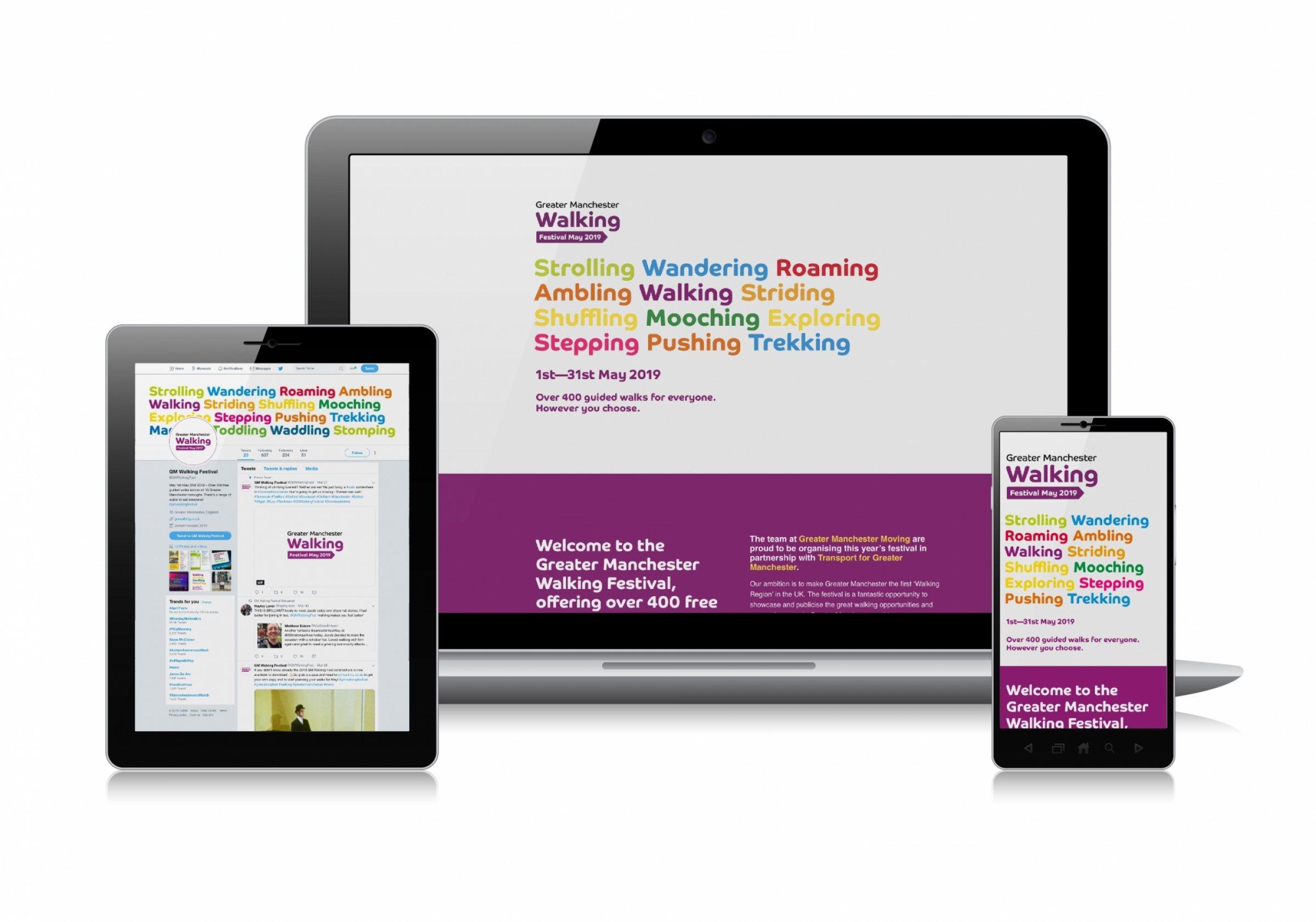 GM Walking Festival website design